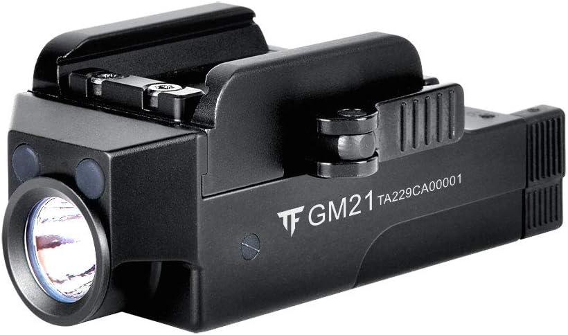 TrustFire GM21 Pistol Light 510 lúmenes Glock arma linterna montada en riel, USB recargable de liberación rápida (TrustFire GM21)