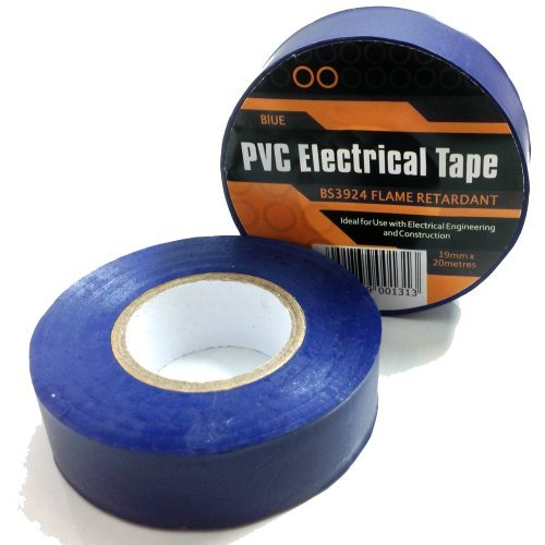 1 x DARK BLUE ELECTRICAL PVC INSULATION / INSULATING TAPE 19mm x 20m - FLAME RETARDANT by Falcon workshops