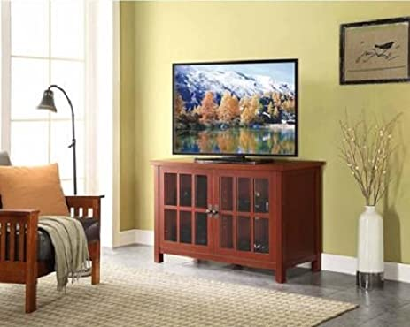 Amazoncom Modern Contemporary Red TV Stand and Console for TVs