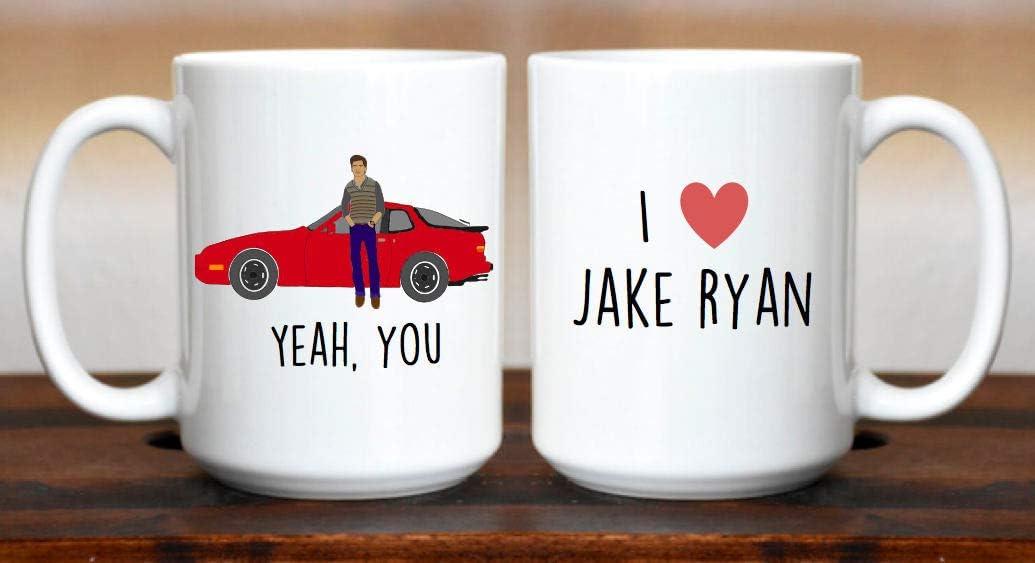 Yeah You Jake Ryan Sixteen Candles Molly Ringwald 80s Movies Brat Pack Funny Mug I Love Jake Ryan 80s 16 Candles Kitchen Dining