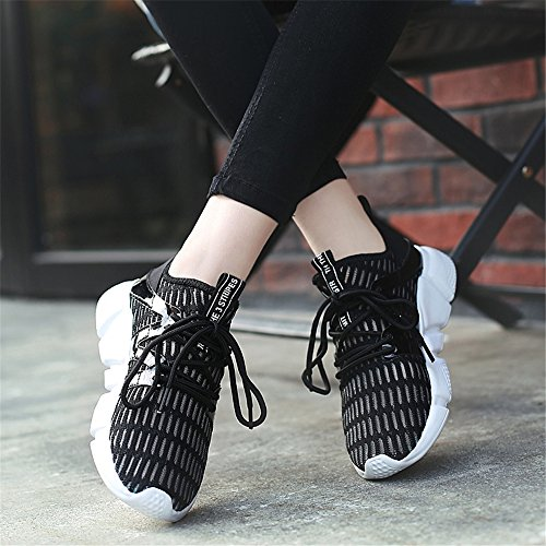 Seakers Elastic Classic Shoes Black for Running Summer Men Mesh and Women's YMY Walking 1tnARHw