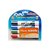 EXPO Scented Dry Erase Markers, Chisel Tip, Assorted Colors, 4-Piece