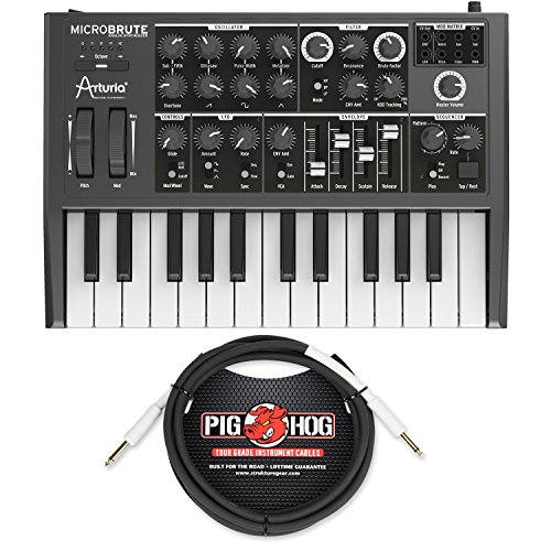 Arturia MICROBRUTE Analog Synthesizer w/ Pig Hog PH10 Instrument Cable - Bundle