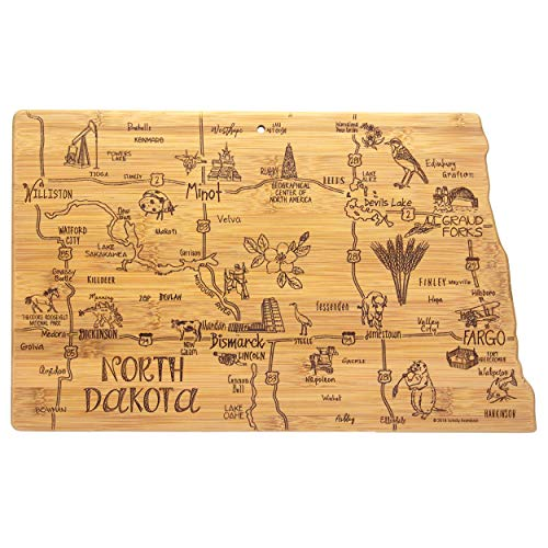 Totally Bamboo North Dakota State Destination Bamboo Serving and Cutting Board
