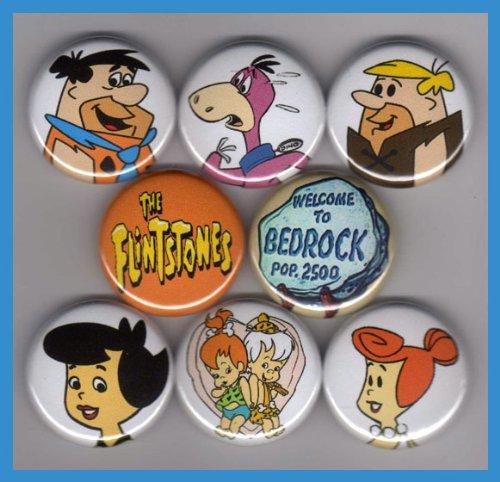 The Flintstones Set of 8 - 1 Inch (Barney Betty Rubble)