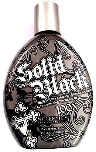 Solid Black 100x Bronzer Indoor & Outdoor Dark Tanning Bed Lotion