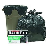 Bolsas de basura Handi-Bag HAB6FTL40 Super Value Pack, 33 gal, .65mil, 32.5 x 40, negro (caja de 40)