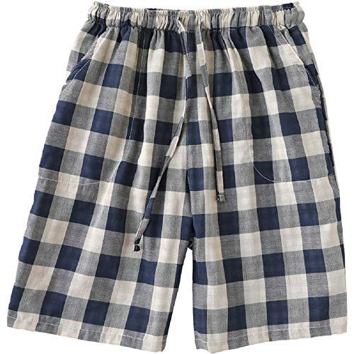 Mmllse Pantaloni Pigiama In Cotone Estate Pantaloni Da Uomo A Casa Cinque Pantaloni Da Spiaggia In Pantaloncini Plaid Indossare Fuori Photo Color
