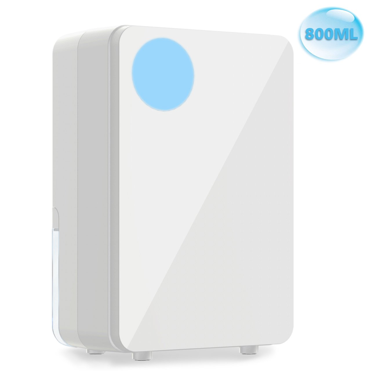 Small Air Dehumidifier, Ultra Quiet Thermo-Electric Dehumidifiers with 800ml (33 oz) Tank, Portable for Damp Air, Mold, Moisture in Home, Kitchen, Bedroom, Basement, Caravan, Office, Garage up to 108