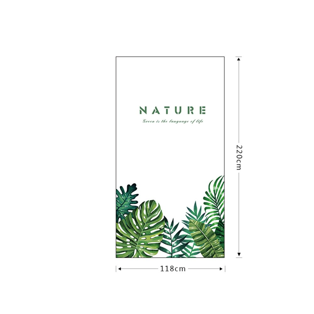 JiaQi 3d Window films,Static Frosted privacy window film,Sun Household Restroom Window decal Window decor Green plant Non-adhesive heat control-A 118x220cm(46x87inch) by JiaQi