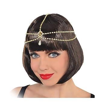 Amazon Com Campsis Gold Vintage Head Chain Pearl Headpiece