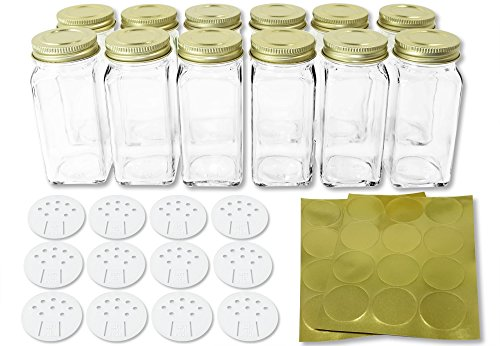 Square Bottles Shaker Labels SpiceLuxe