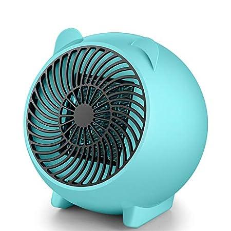 QIANDING Qunuanqi Dessin animé Mini Chauffage Mode Bureau Petite Puissance radiateur à air Chaud Petit Soleil radiateur Domestique radiateur électrique créatif (Couleur : Blanc)
