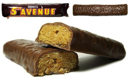 Hersheys 5th avenue milk chocolate bar, crunchy peanut butter - 36 bars by Hershey`s 5th Avenue Candy - Store 5th Avenue