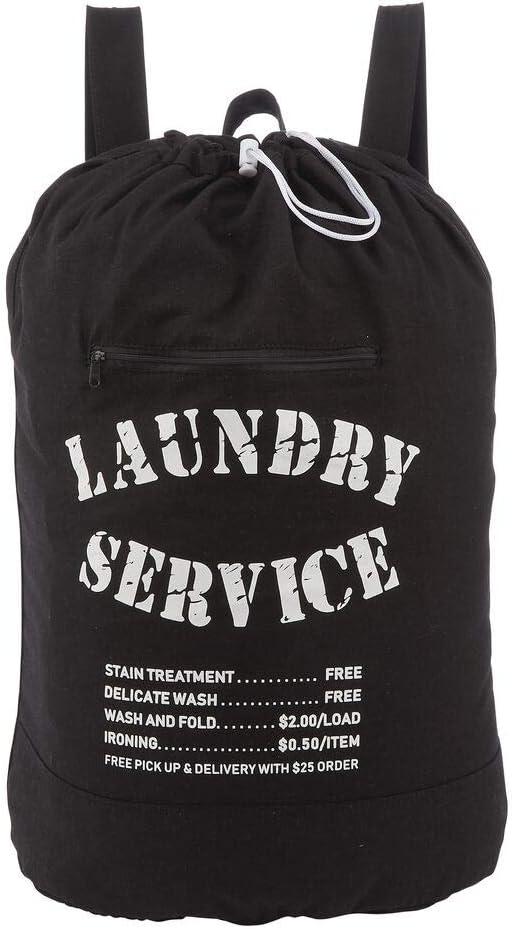 mDesign Cesta de ropa sucia – Práctico saco para ropa sucia con ...