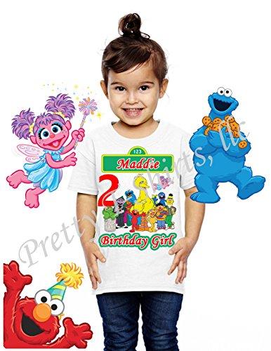 Girl Sesame Street Birthday Shirt, FAMILY Birthday Shirt, Elmo Birthday Girl Shirt, Sesame Street Birthday Party Favor, GIRL Birthday Shirt, Cookie Monster, Elmo, Big Bird, Abby, Sesame Street Shirt