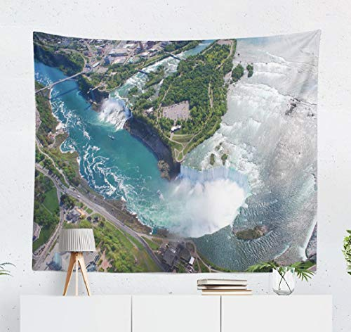 Deronge Tapestry, American Canadian Canada Amazing Toronto USA Cityscape New Tapestry Wall Hanging Decor 50x60 Inch Wall Art Tapestry for Men Bedroom Decorative Tapestry Dorm Decor,American Canadian (Best Time To Visit Toronto And Niagara Falls)