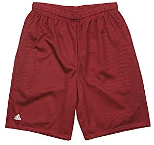 Adidas Men's Mesh Basketball Shorts - Wine Red (Small)