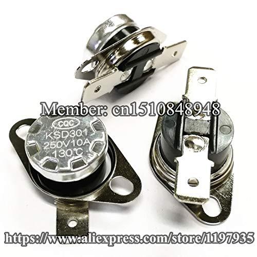 Termostato KSD301 105 - 155 grados 250 V 10 A 105 110 115 120 125 ...