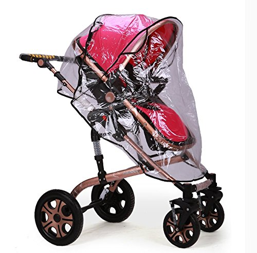 IROCH Rain cover for baby pram , Universal Pushchair Stroller Pram Buggy Transparent Rainproof Cover Rain Shade by IROCH