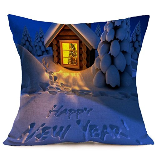 Gotd Home Decoration Christmas Pillow Cushion Cover Square Decorative Throw Pillow Cover Colored Pillowcases Cushion Christmas Gifts Ornaments Dector (Most Requested Halloween Costume)
