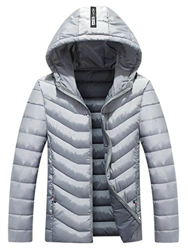 Outwear Winter Hoodie Men's today Jacket Grey Thicken Quilted Down UK UvP7qwWqY