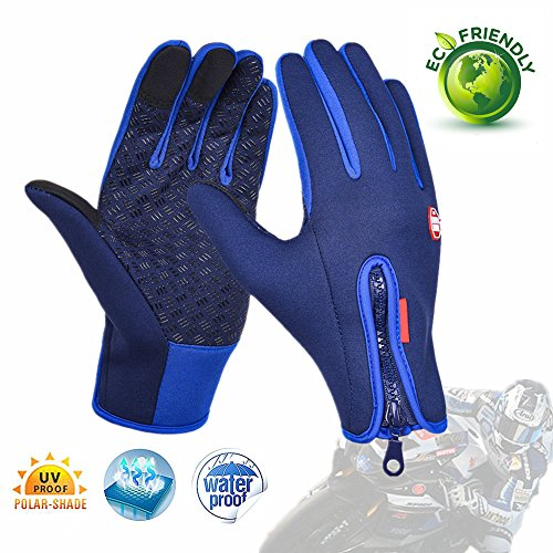 Chickwin Gloves Touch Screen Windproof Outdoor Casual Full Finger Multifunctional Gloves (S-blue, - 2 Dragon Apx