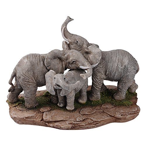 "Comfy Hour 6"" Elephant Family Hundle Figurine"