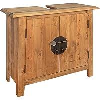 vidaXL Badezimmer Unterschrank Recyceltes Massivholz Waschbeckenunterschrank