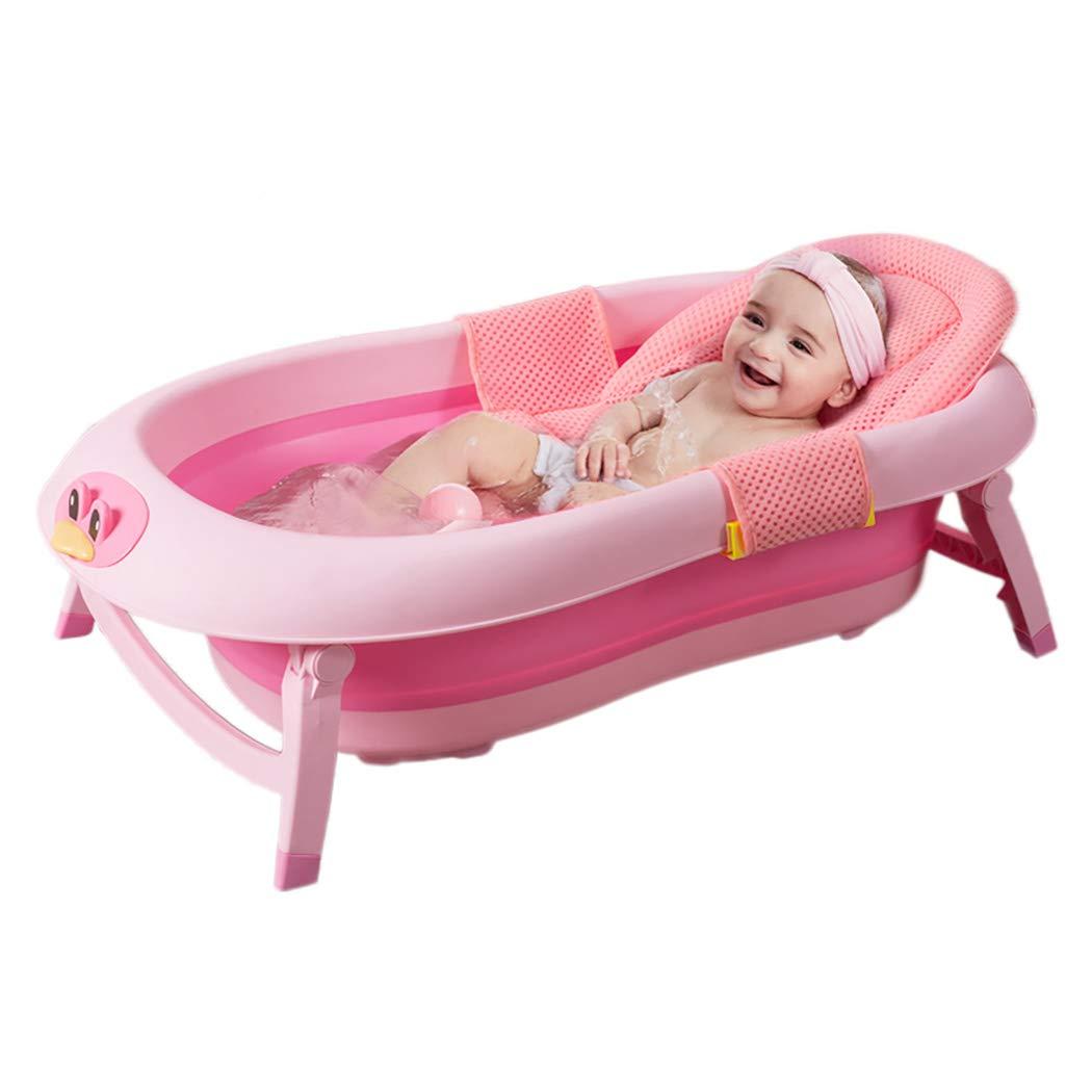 Flesser Baby Bath Seat Adjustable Bath Support for Bathtub Comfortable Bathtub Sling Non-Slip Baby Bath Mesh for Tub