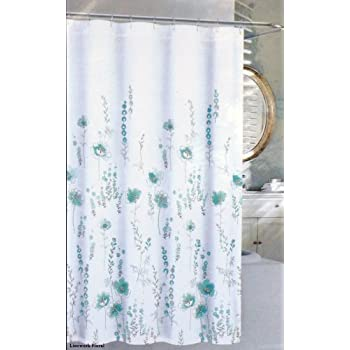 Amazing Nicole Miller Fabric Shower Curtain Linework Floral