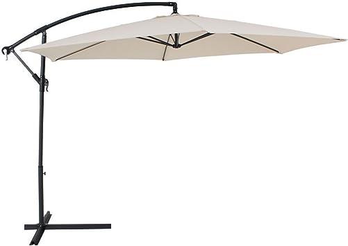 fp-tech fp-yx4212 – 3 x 3 Sombrilla de jardín lateral plegable, 3 x 3 m, Beige claro: Amazon.es: Bricolaje y herramientas
