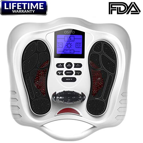 r Machine - Feet Legs Circulation Booster Using EMS and TENS Stimulator, Electrical Nerve Pulse Massage Therapy, Electric Foot Leg Reflexology Devices, Relieve Pain for Neuropathy ()