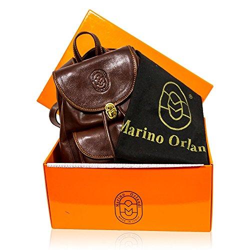 Scuro Pelle Cognac In Orlandi Di Design Borsa Mens Portafogli E Italiano Set 4nxSqq