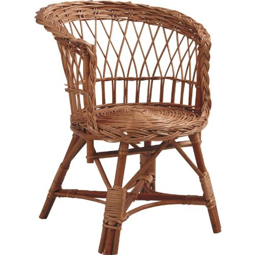 PEGANE Buff Wicker Child's Chair without Cushion