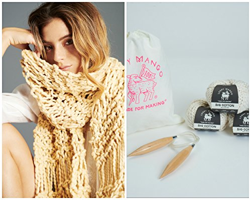 Loopy Mango DIY Kit - Cotton Fringe Scarf-Tahitian Pearl by Loopy Mango