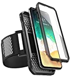 SUPCASE iPhone X, iPhone XS Armband, iPhone XS Armband, SUPCASE Easy Fitting Sport Running Armband with Built-in Screen Protector for Apple iPhone X 2017, iPhone XS 2018 Release (Black)