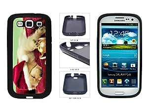 Cute Santa Dog TPU RUBBER SILICONE Phone Case Back Cover Samsung Galaxy S3 I9300
