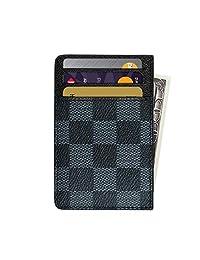 Slim RFID Credit Card Holder Leather Front Pocket Wallets for Men Women