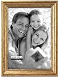 Malden International Designs Classic Wood Picture Frame, 5 by 7-inch, Gold Bead