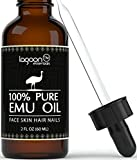 1# Emu Oil Pure 100% From Lagoon Essentials For Hair, Skin, Face, Nails, Wrinkles, Sunburns, Irritations, Scars, Acne, Stretch Marks, Burn Wounds and More. (2oz / 60ml) Bottle With Dropper + e-Book.