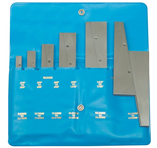 Fowler 52-437-006 Hardened Steel Adjustable Parallel 6 Pairs Set, 6'' L X 0.125'' Thick
