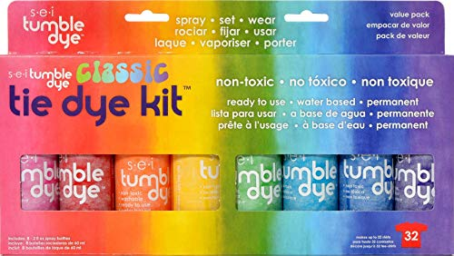 (SEI Tumble Dye Craft and Fabric Spray, 2-Ounce, Mixed Colors, 8 Per Package)
