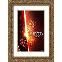 Star Wars: Episode I - The Phantom Menace 3D 18x24 Double Matted Gold Ornate Framed Movie Poster Art Print