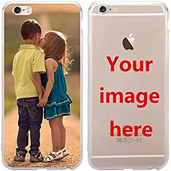 5cf2abede5 Depthlan Custom Phone Case for iPhone 8 / iPhone 7, Personalized Photo  Phone Case, Soft Protective TPU Bumper, Customized Cover Add Image Painted  Print Text ...