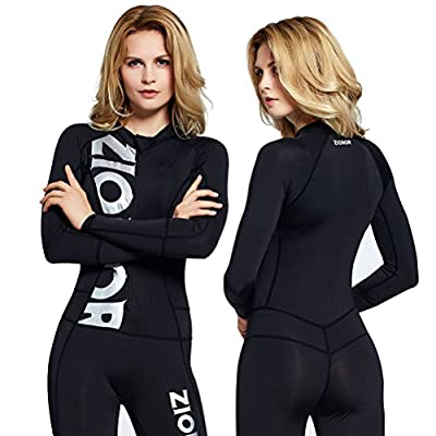 ZIONOR Full Body Sport Rash Guard Dive Skin Suit for Swimming Snorkeling Diving Surfing with UV Sun Protection Long-sleeve for Women