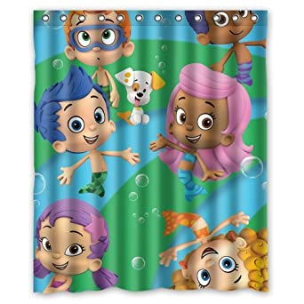 Amazon.com: Custom bubble guppies Painting Printed Shower Curtain ...