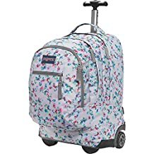 JanSport Driver 8 Rolling Backpack- Discontinued Colors (Multi Grey Floral Haze)
