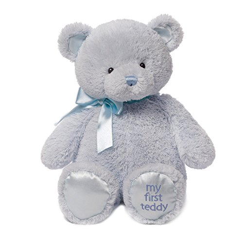 Baby GUND My First Teddy Bear Stuffed Animal Plush, Blue, 18