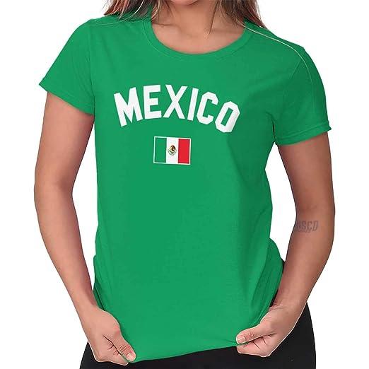 dae4086ff Womens Funny T Shirt Mexico Flag Athletic Soccer Mexican National Flag  Pride Irish Green